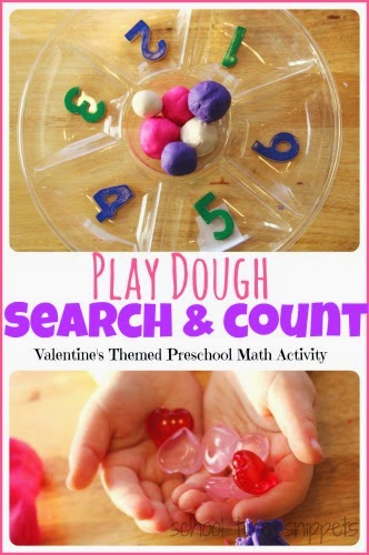 Preschool Counting with Play Dough