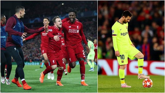 Bán kết lượt về Champions League: Liverpool 4-0 Barcelona 2