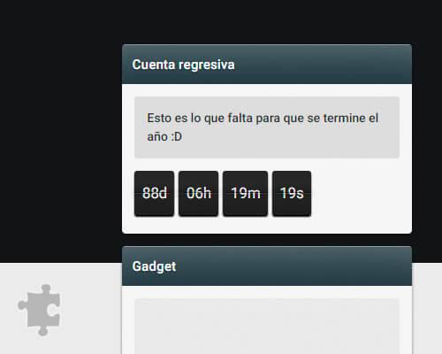 gadget widget cuenta atras javascript