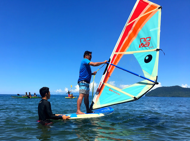 Windsurfing at Parientes Watersports in Hinunangan