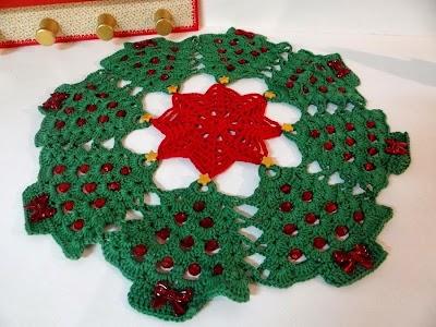 Tapete Mantel Arboles de Navidad Patron