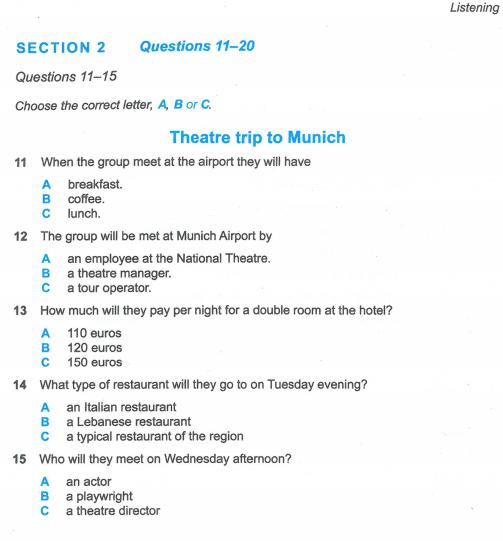 Latihan IELTS | Cambridge IELT 12 | Test 6 | Section 2 | Listening