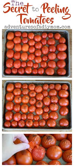 The Secret to peeling tomatoes