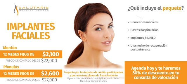 Paquete Implantes Faciales Menton Pomulos Precio Guadalajara Mexico