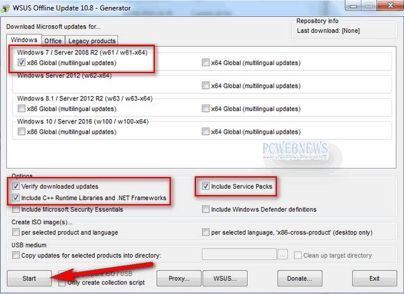 Aggiornamenti Windows 7