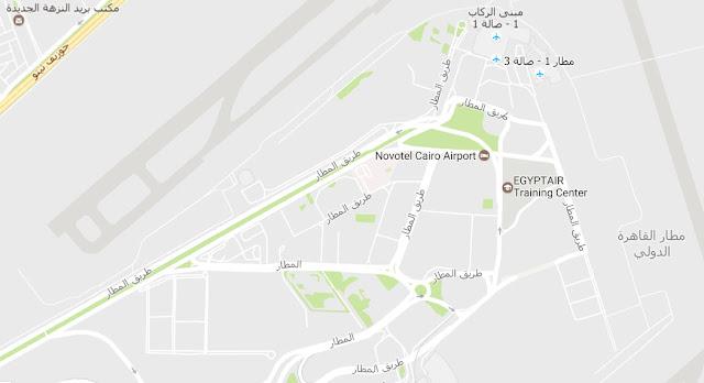 Cairo International Airport Map خريطة مطار القاهرة