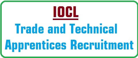 IOCL,Trade and Technical Apprentices,Recruitment 2016
