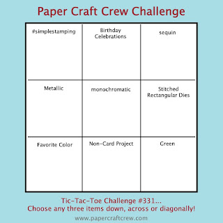 Paper Craft Crew Tic Tac Toe Challenge #PCC331