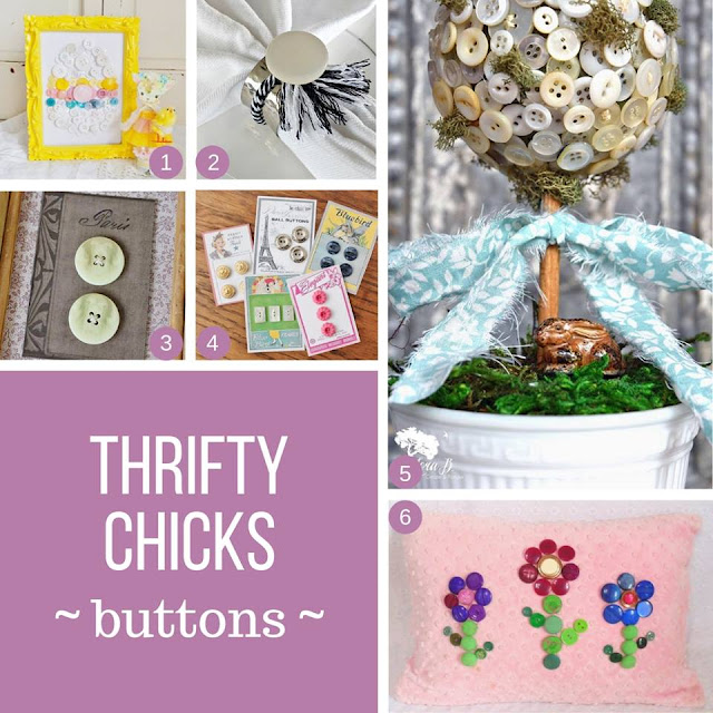 Thrifty Chicks Challenge- Fun DIY button card projects from Itsy Bits And Pieces Blog
