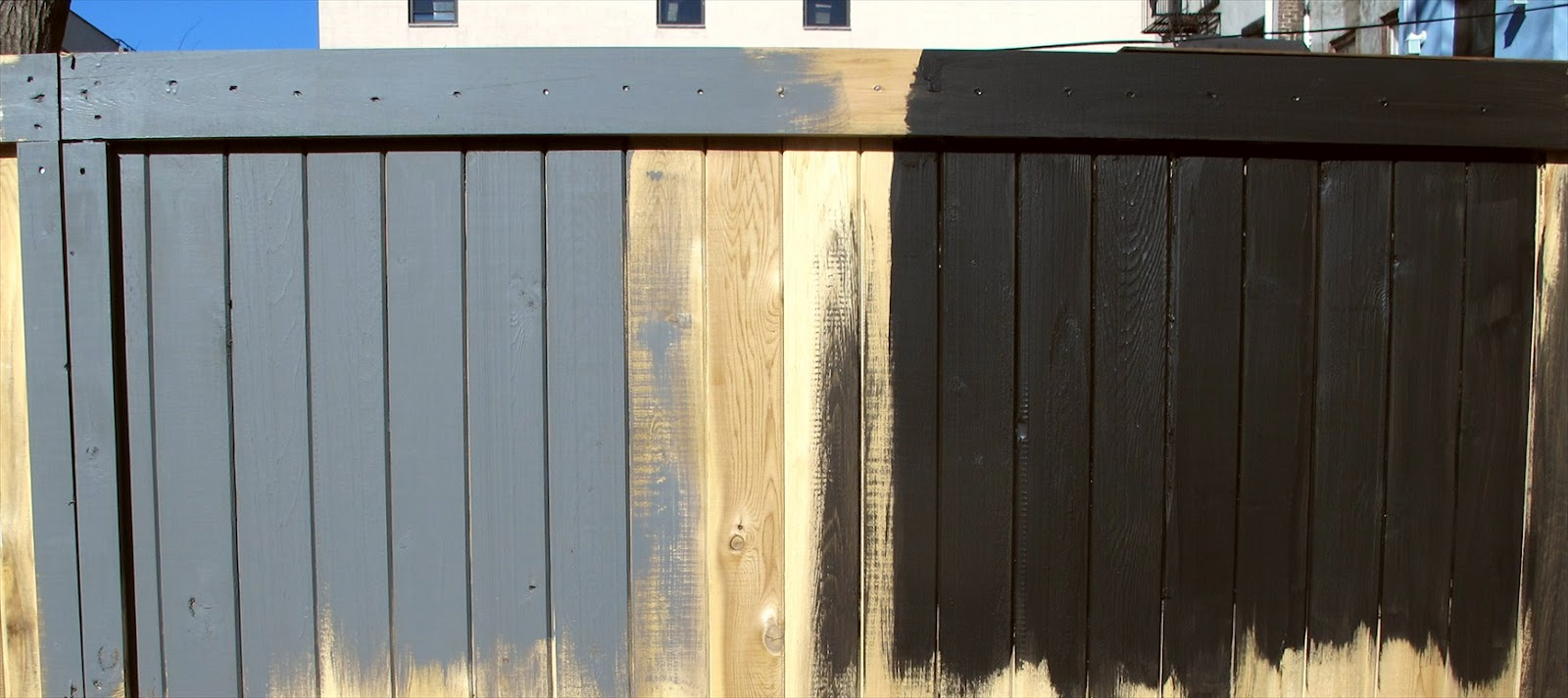 Blue Fence Paint