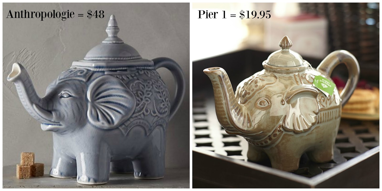 Looking For Teapots The Peacock Fairy Get The Look For Less Elephant Teapot