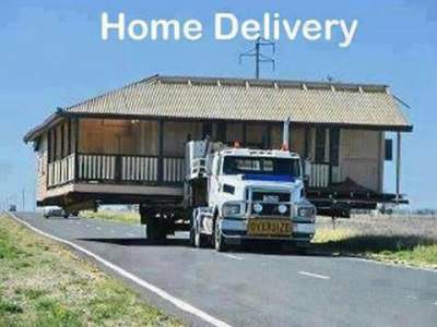 taking house on truck