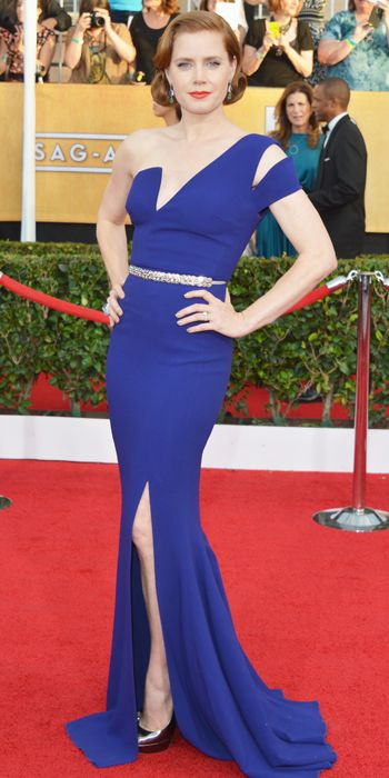 Amy Adams in a royal blue Antonio Berardi gown at the SAG Awards 2014