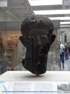 Cabeza de estatua romana en el British Museum