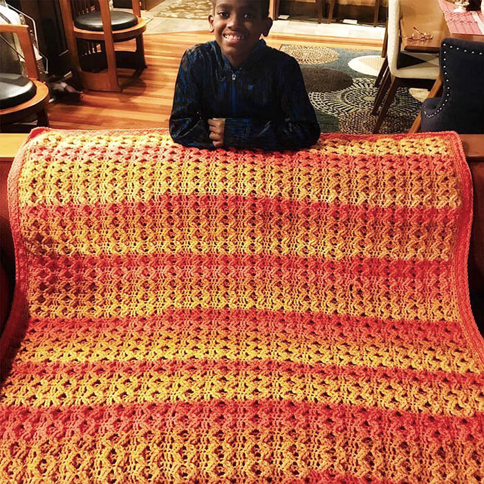 11-Year-Old Boy Learned How To Crochet At The Of Age Five And Is Now A Crocheting Prodigy