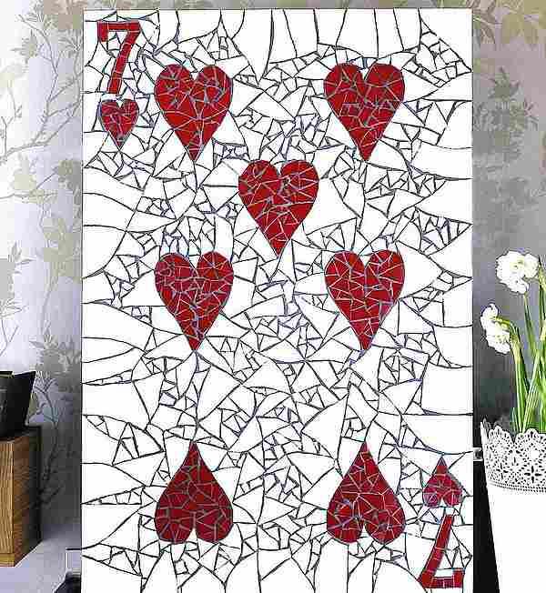 pared de mosaico costura y artesanías