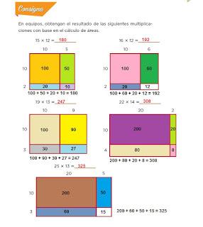 Respuestas Apoyo Primaria Desafíos Matemáticos 4to. Grado Bloque III Lección 55 Multiplicación con rectángulos