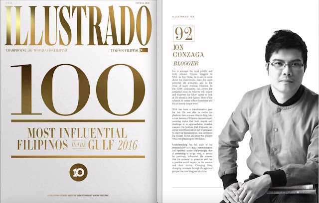 2nd Year in 100 Most Influential Filipinos in the Gulf