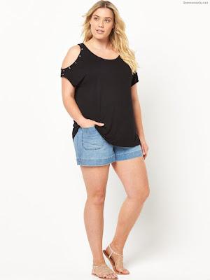 Pantalones de moda cortos para gorditas