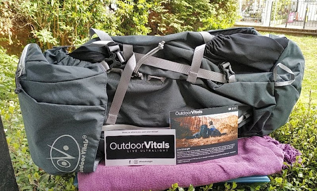 Outdoor Vitals Rhyolite Internal Frame Hiking Backpack Amongst Rainfly