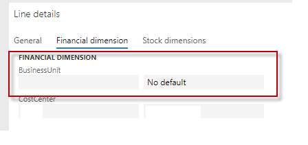 You Must Select A Value In The Businessunit Field In Combination With The Following Dimensions Values That Are Valid In Dynamics 365