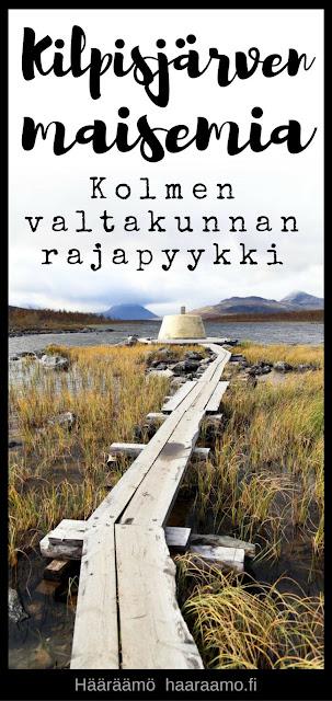 Kilpisjärven maisemia: Kolmen valtakunnan rajapyykki