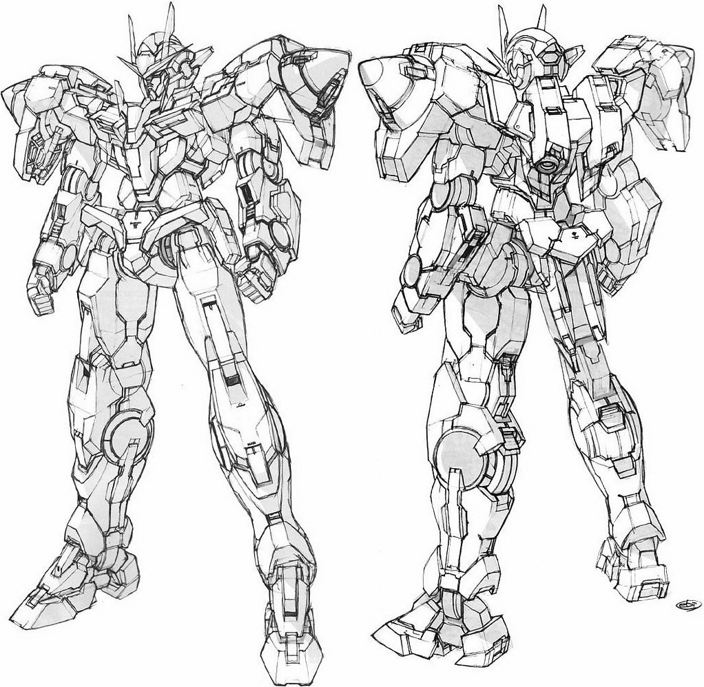 MASTA-KILLA TERRITORIES: GUNDAM LINEART: FULL SCALE GUNDAM