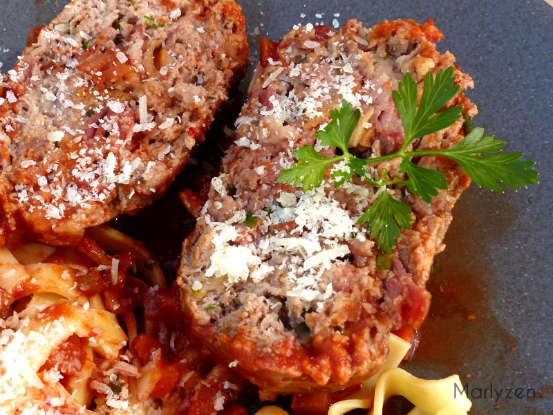 Pain de viande à la sauce tomate et au vin rouge