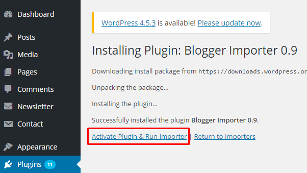 Active Blogger Plugin