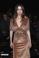 Priyanka Chopra is all brown in a deep neck beautiful dress at Bottega Veneta Show during NYFW ~  Exclusive 004.jpg