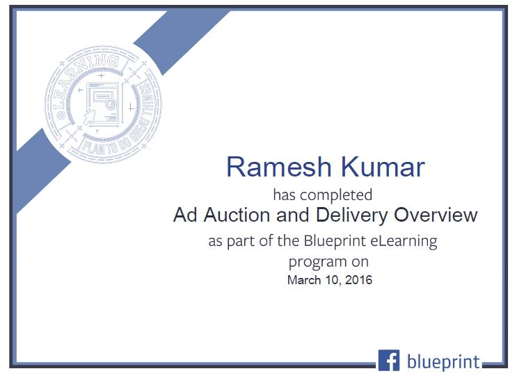Facebook PPC Certificate 1