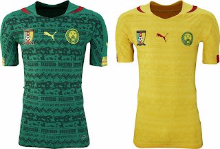 b1907a0e61c The new Cameroon 2014 World Cup Home and Away Shirts were unveiled today.