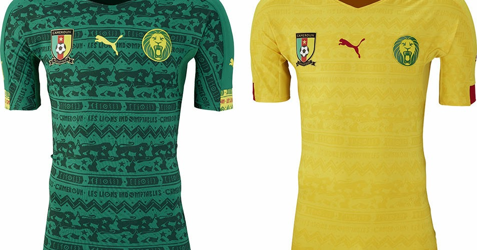 da44650b1 Cameroon 2014 World Cup Home and Away Kits Released - Footy Headlines