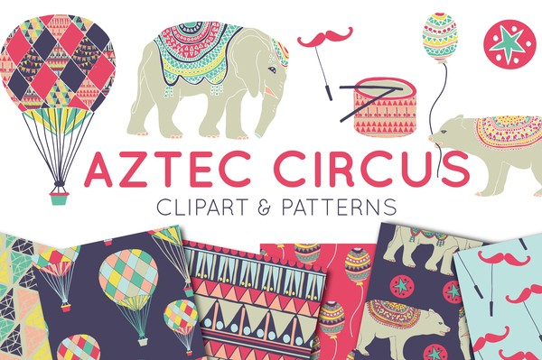 Circus Clipart And Digital Paper