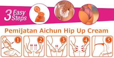 Aplikasi Cara Pemakaian atau Cara Menggunakan Cream Aichun Hip Up Lotion Pengencang dan Pembesar Bokong