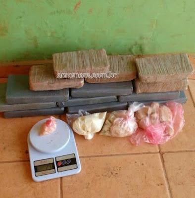 Polícia de Guajará-Mirim apreende mais de 15 kg de drogas