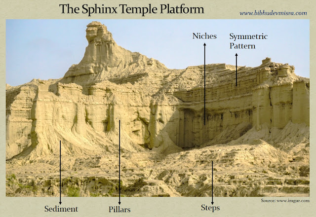The Balochistan Sphinx-Temple platform with steps, pillars, niches and a symmetric pattern