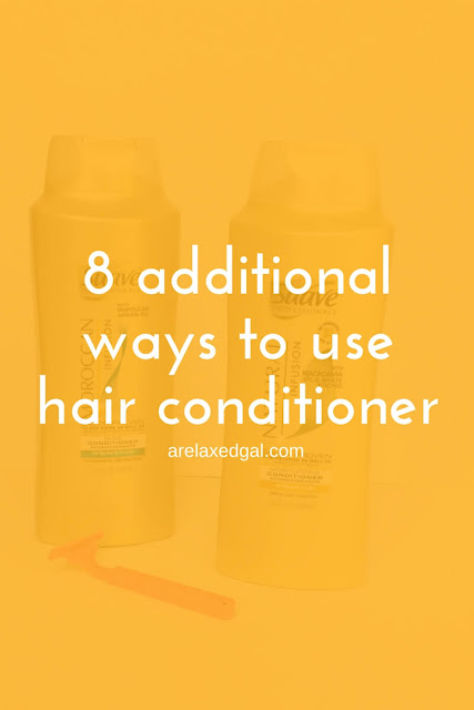 Conditioner doesn't have to just be for your hair. See 8 other ways you can use your hair conditioner. | @arelaxedgal