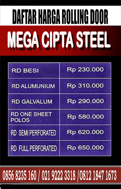 Gambar Daftar Harga Folding Gate & Rolling Door One Sheet, Industri