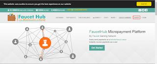 halaman utama faucethub.io