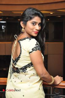 Actress Mithuna Valiya Pictures in Saree at Women Anthem Album Launch  0049.JPG