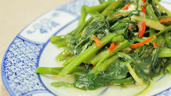 Kang Kong With Fermented Beancurd