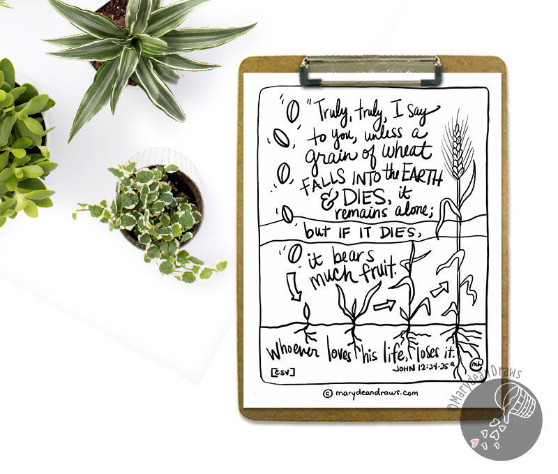 Bible printable coloring page