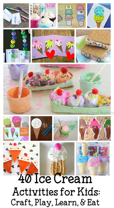 Ice Cream Crafts and Activities for Kids