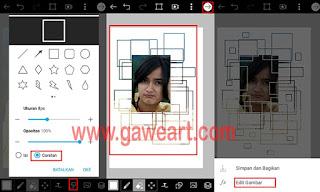 proses-edit-foto-kotak-kotak-efek-pentagon-picsart