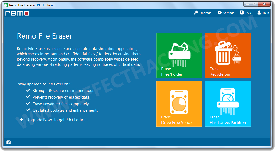 Remo File Eraser Screenshot