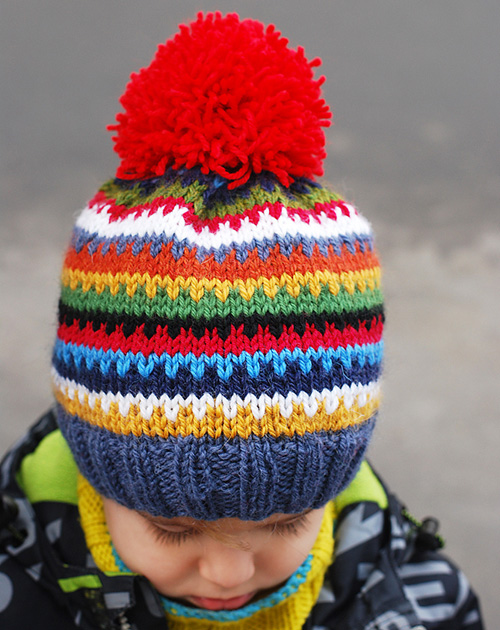 Scrappy Ski Hat - Free Pattern
