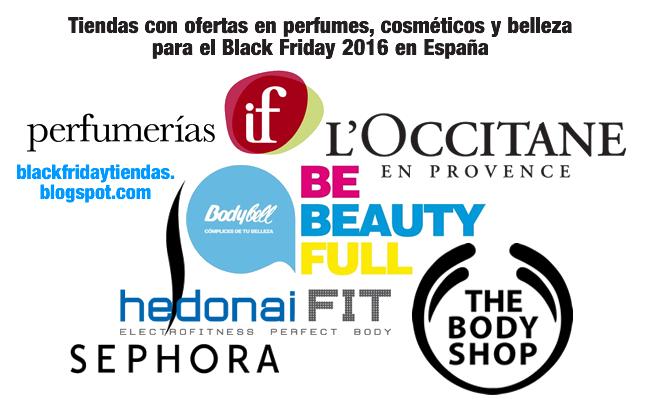 Tiendas con ofertas en perfumes, cosméticos y belleza para el Black Friday 2016 en España
