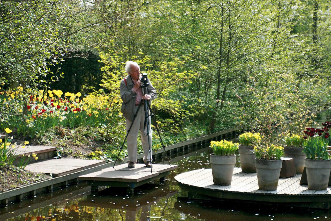 fotograf w parku Keukenhoff - zdjęcie własne