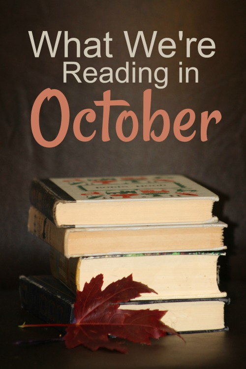 Book selections for the month of October of a homeschooling family of 7